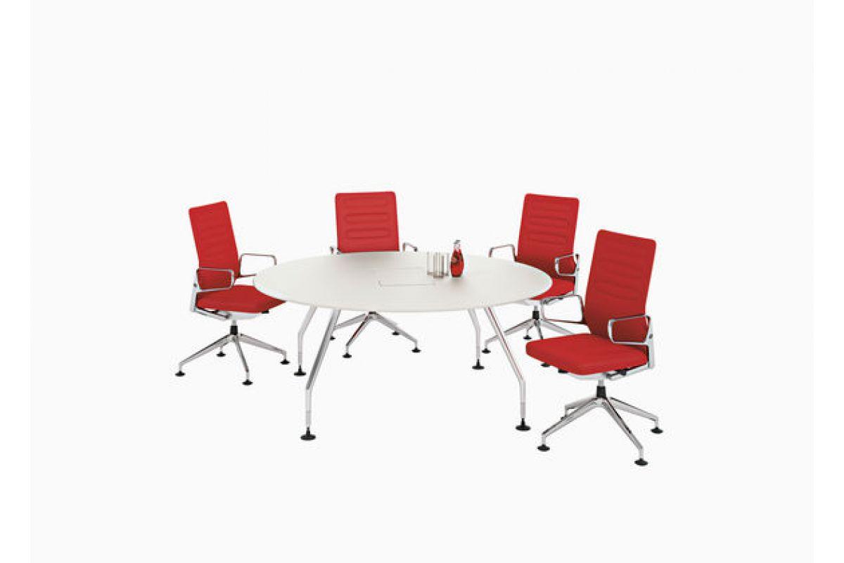 Vitra ad hoc solitaire round office mobilier de bureau for Mobilier bureau 64
