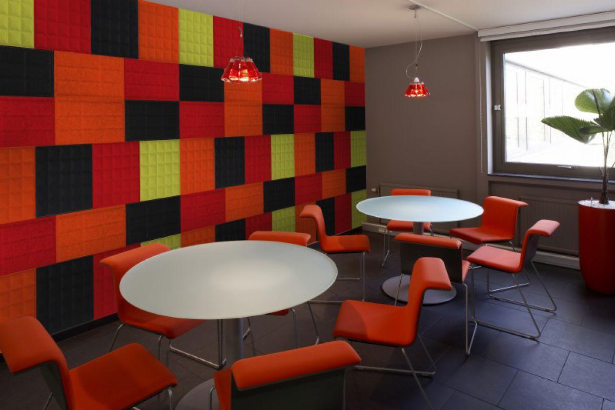 BUZZI SPACE Phonique BuzziSkin Tile 3D metro   Round Office ...