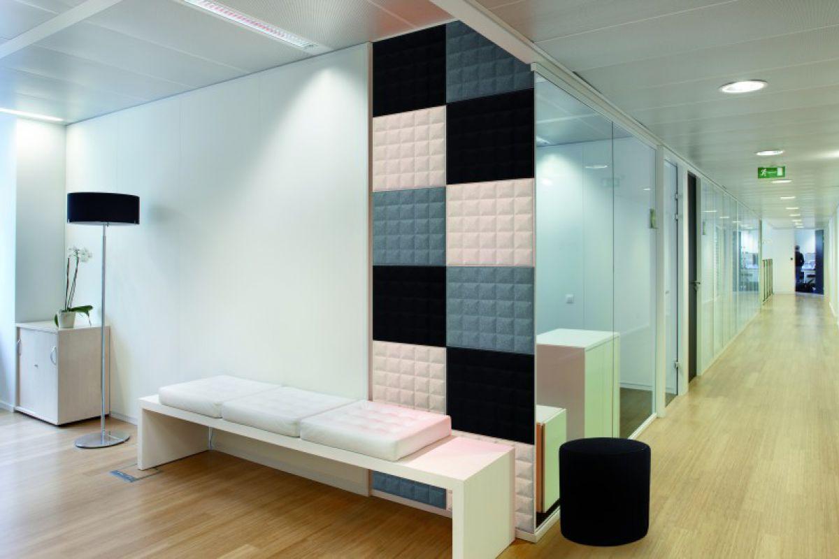 BUZZI SPACE Phonique BuzziSkin Tile 3D metro | Round Office ...