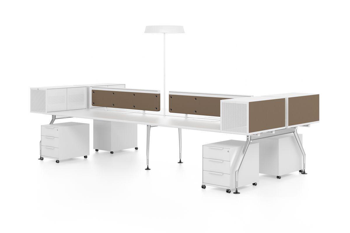 Vitra ad hoc workstations round office mobilier de for Hauteur table standard