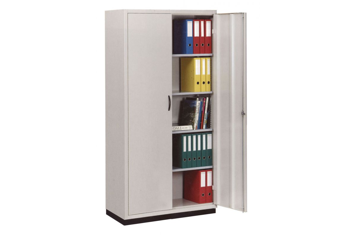 Sara armoire m tallique portes battantes round office for Armoire metallique 2 portes