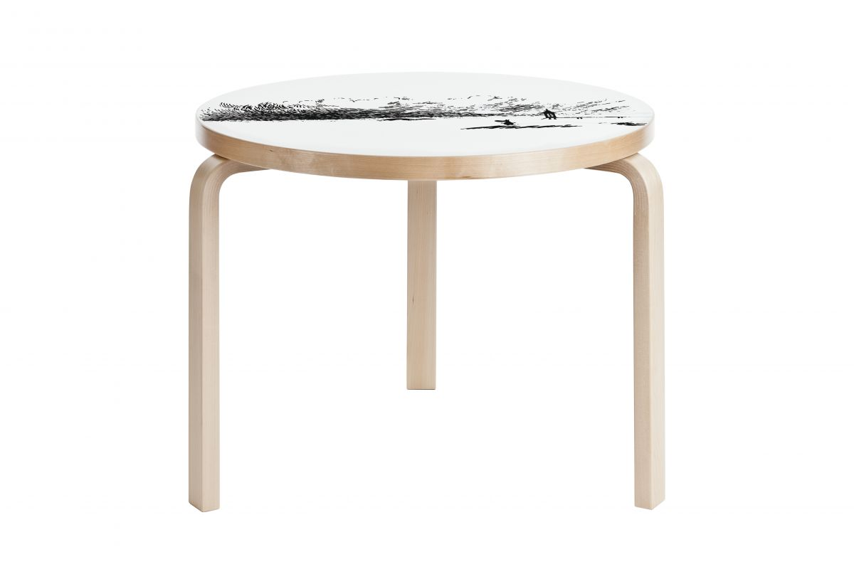 Artek table 90b moomin round office mobilier de bureau for Hauteur standard table