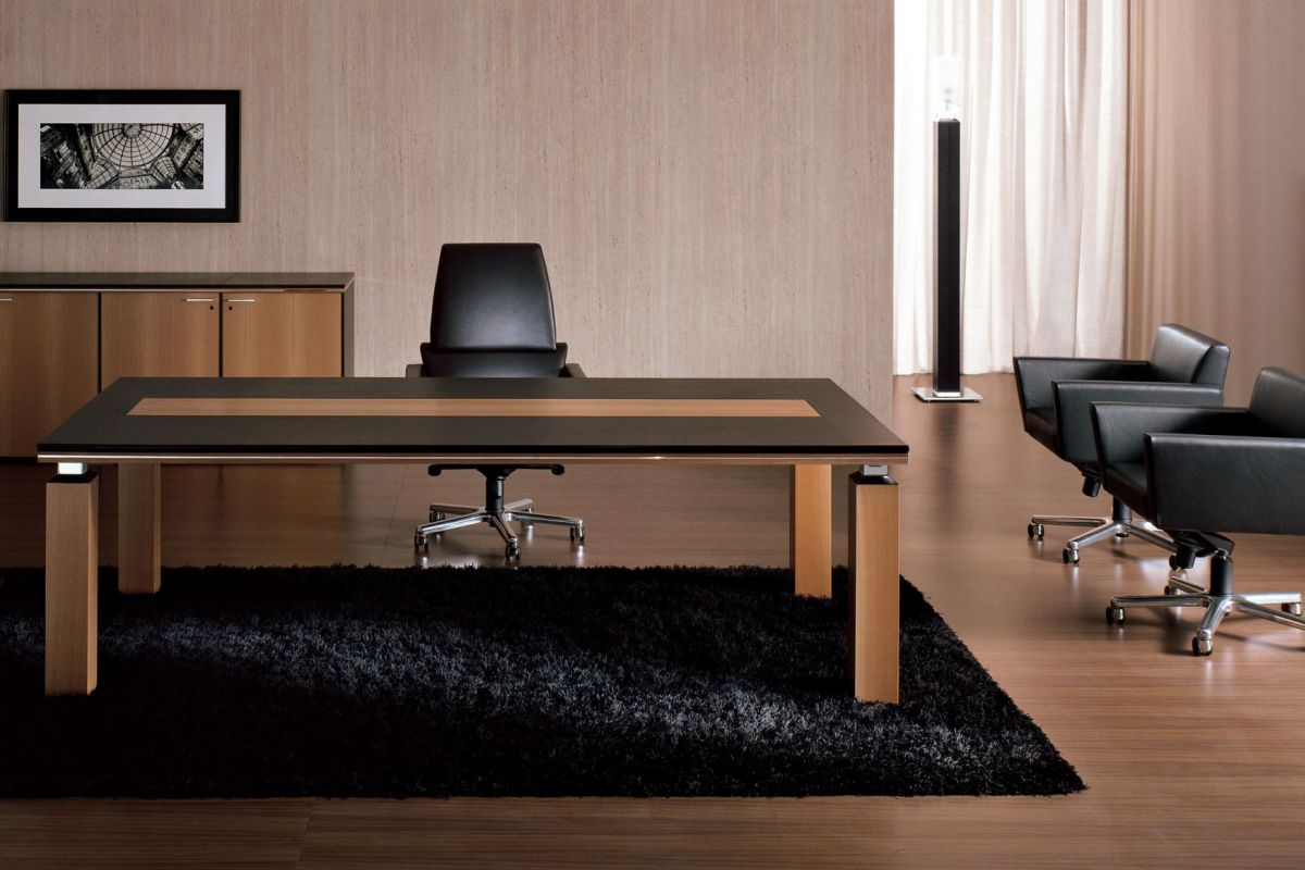 i 4 mariani ares bureau de direction round office. Black Bedroom Furniture Sets. Home Design Ideas