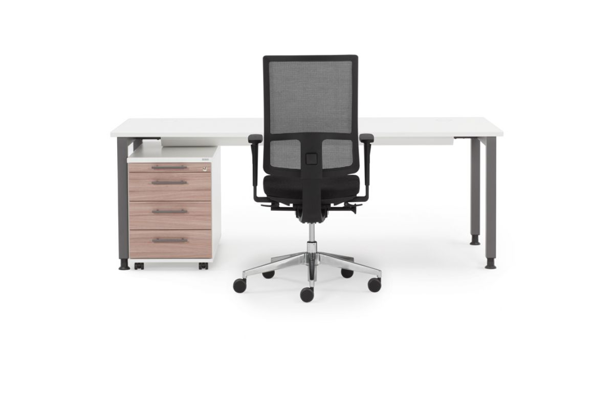 Febru ceo q eco round office mobilier de bureau gen ve for Hauteur standard table