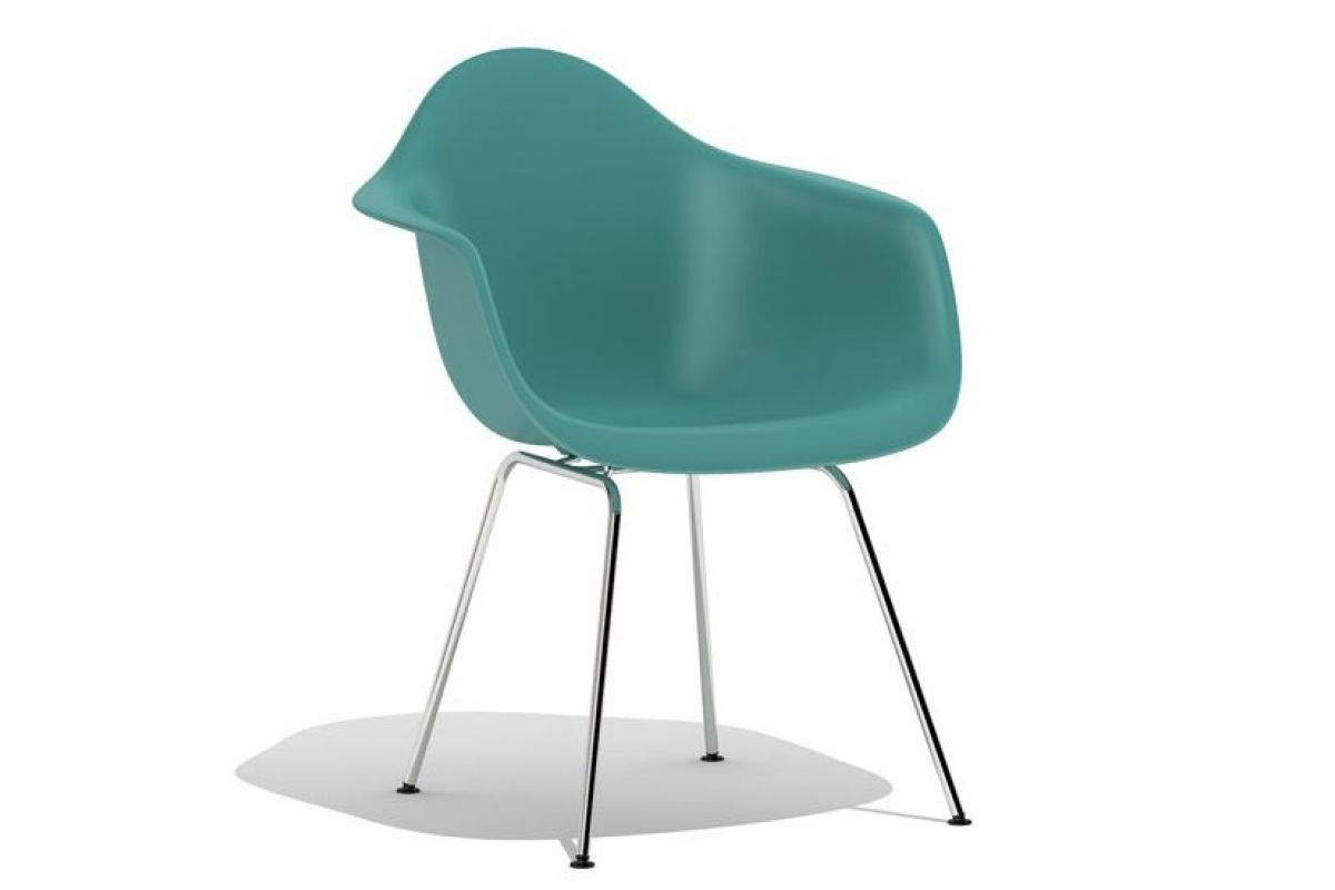 Vitra Plastic Side Chair Dsw Moss Grey Likewise Practical Group