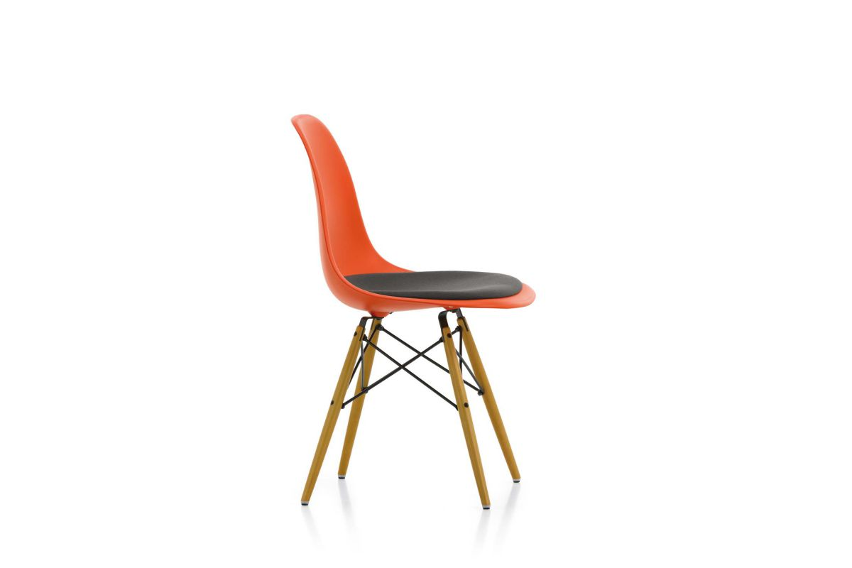 vitra eames plastic side chair dsw round office. Black Bedroom Furniture Sets. Home Design Ideas