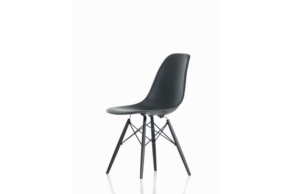Vitra eames plastic side chair dsw round office for Mobilier eames