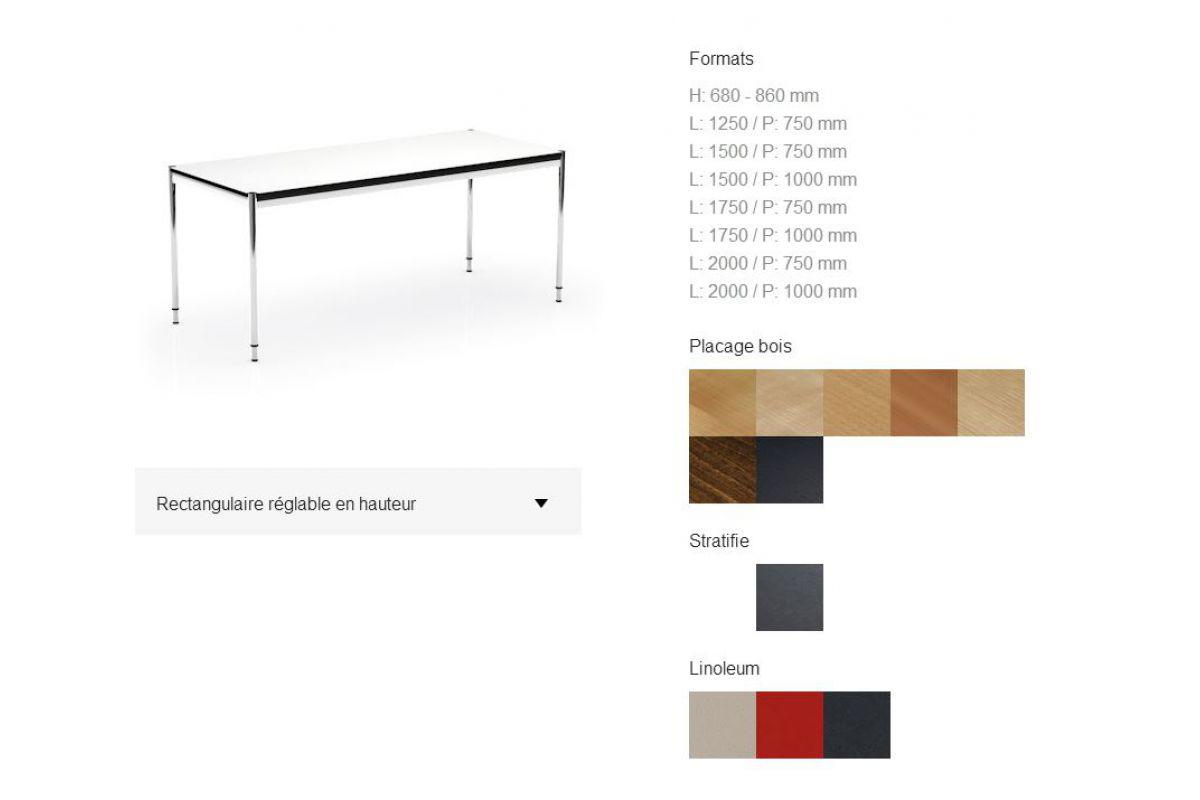 hauteur table standard tables de tri standards 3 tvo sans panneau hauteur hauteur table bar. Black Bedroom Furniture Sets. Home Design Ideas