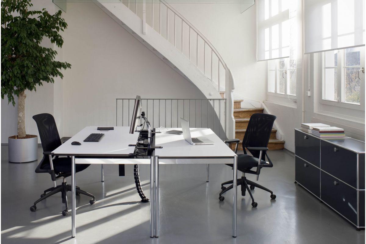 Usm usm haller advanced round office mobilier de for Bureau usm haller