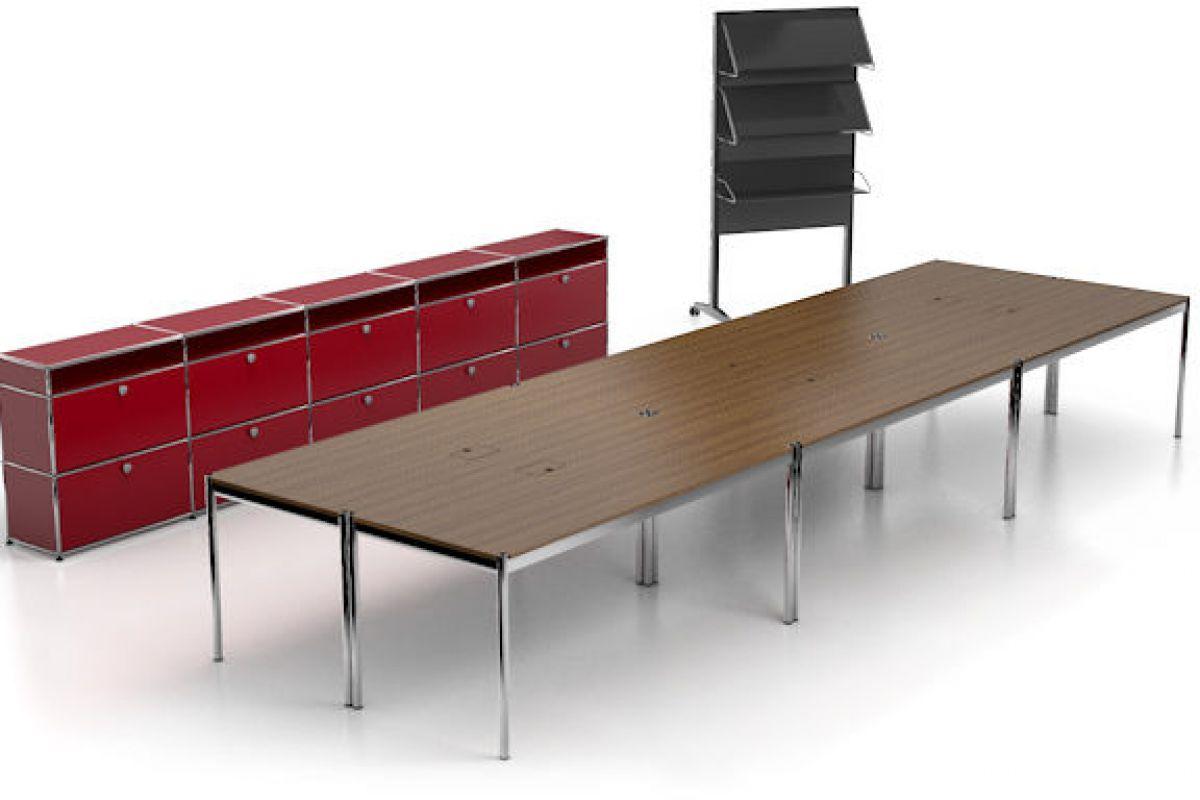 usm usm haller table de conf rence round office. Black Bedroom Furniture Sets. Home Design Ideas
