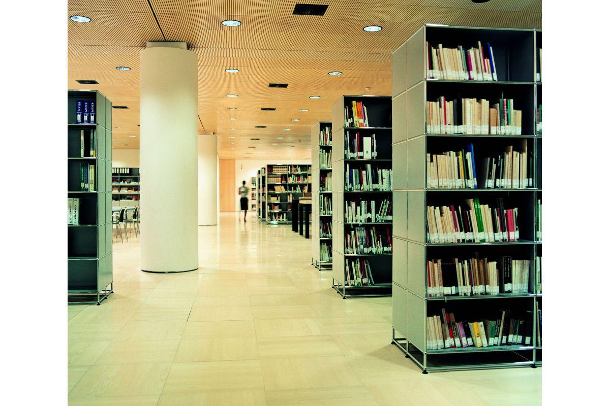 usm haller biblioth que round office mobilier de. Black Bedroom Furniture Sets. Home Design Ideas