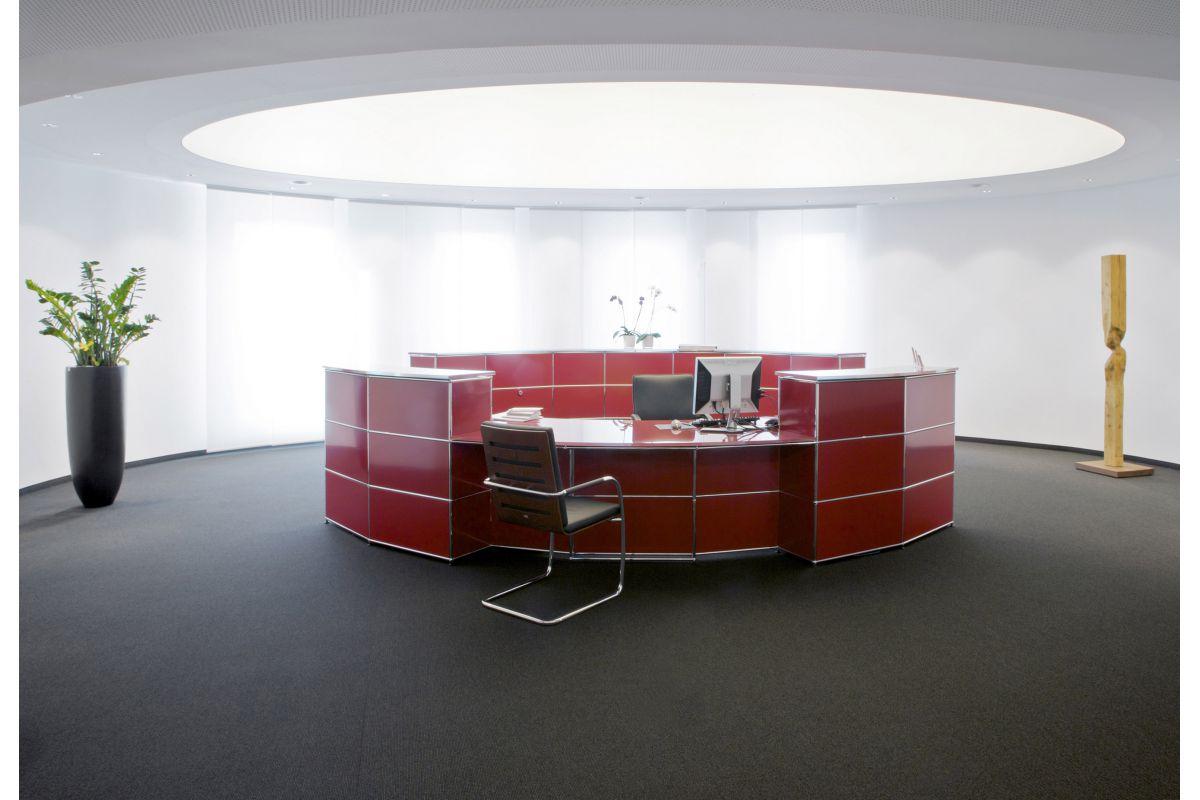 usm haller r ception round office mobilier de bureau gen ve. Black Bedroom Furniture Sets. Home Design Ideas