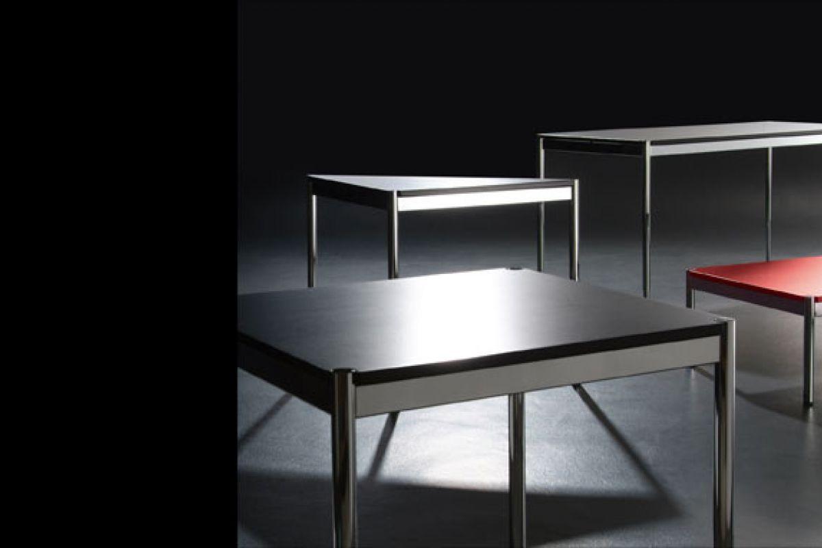 usm usm haller table round office mobilier de bureau gen ve. Black Bedroom Furniture Sets. Home Design Ideas