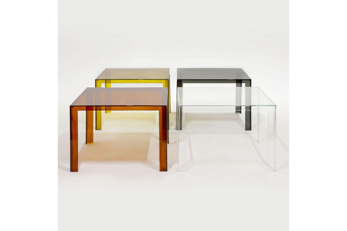 Kartell invisible table round office mobilier de bureau gen ve for Bureau kartell