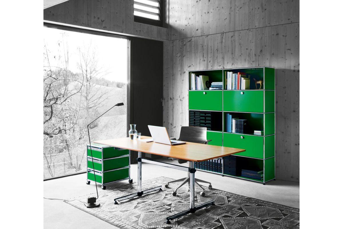 Usm usm kitos table round office mobilier de bureau gen ve for Hauteur table standard