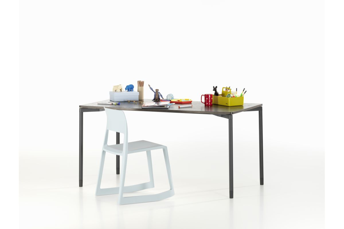 Vitra map table home desk round office mobilier de for Hauteur standard table
