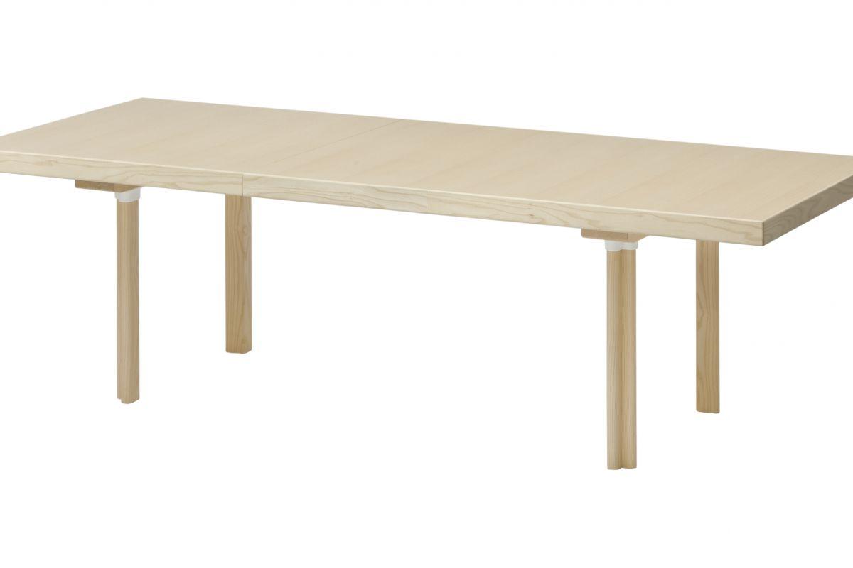 Artek extension table h94 round office mobilier de for Hauteur table standard