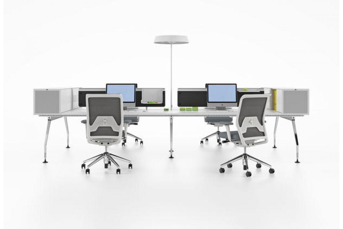 vitra ad hoc workstations round office mobilier de bureau gen ve. Black Bedroom Furniture Sets. Home Design Ideas