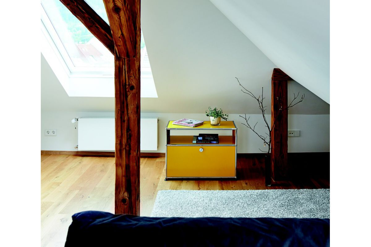Usm usm haller meuble 1 l ment 2 modules round office for Meuble usm occasion