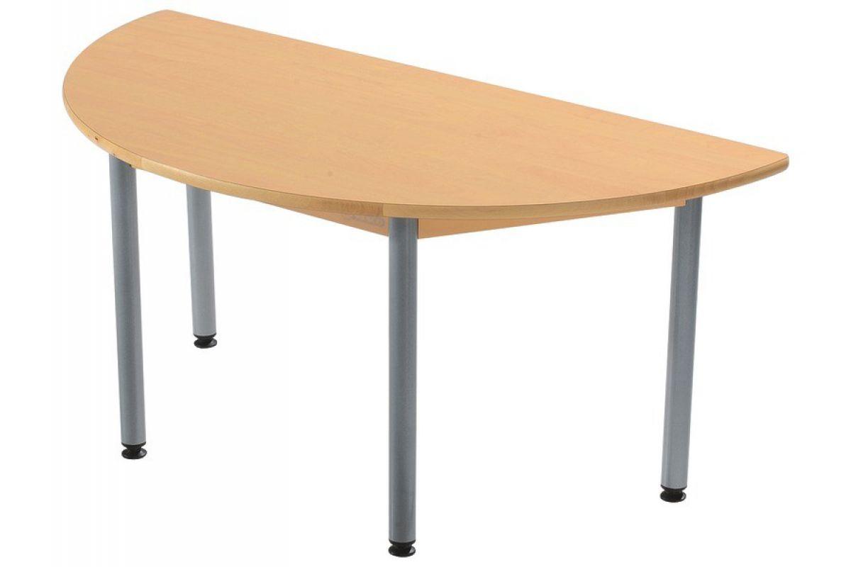wesco table demi lune round office mobilier de bureau gen ve. Black Bedroom Furniture Sets. Home Design Ideas