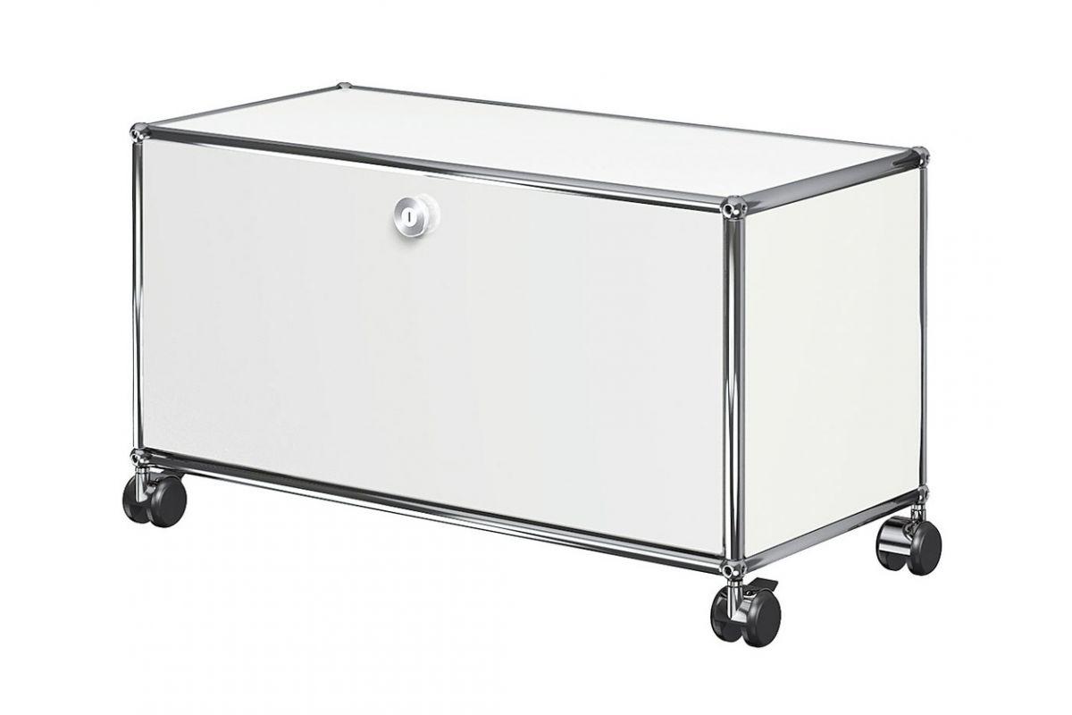 Usm usm haller meuble bas 75cm sur roulettes round for Meuble bureau geneve