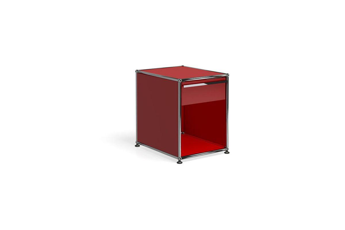 Usm usm haller table de chevet round office mobilier for Bureau usm haller