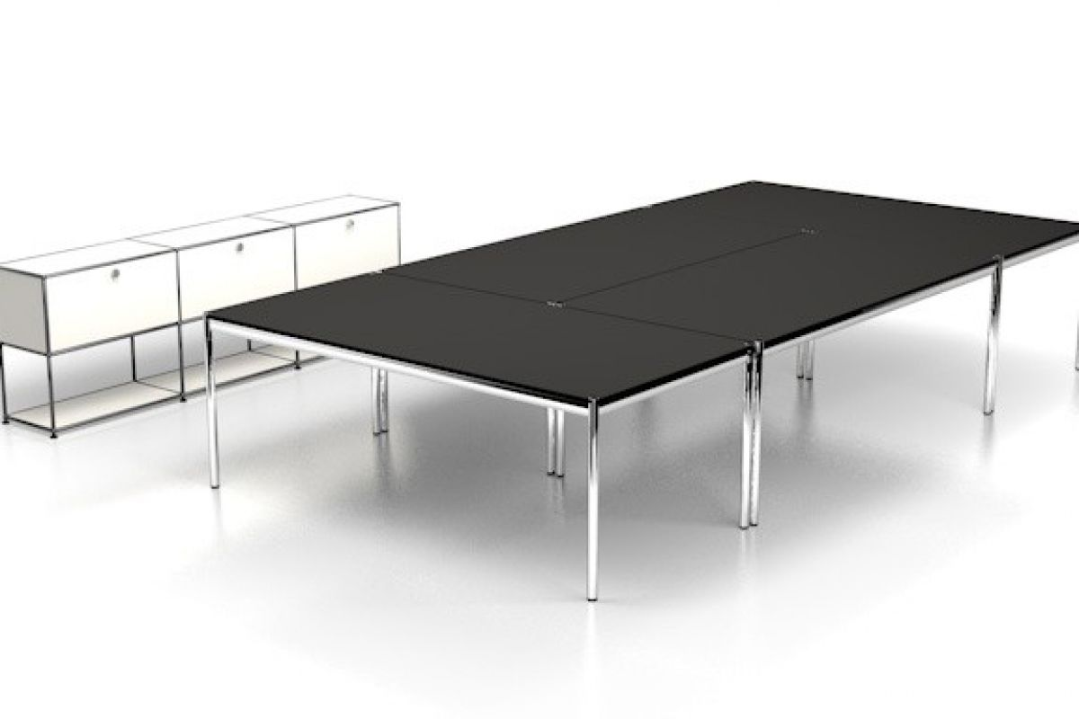 Usm usm haller table de conf rence round office for Bureau usm haller