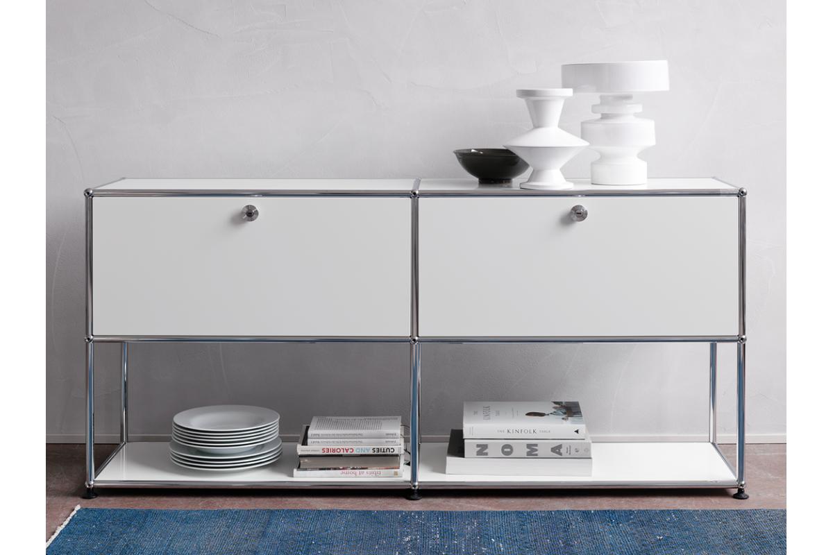 usm usm haller console 150cm round office mobilier de bureau gen ve. Black Bedroom Furniture Sets. Home Design Ideas