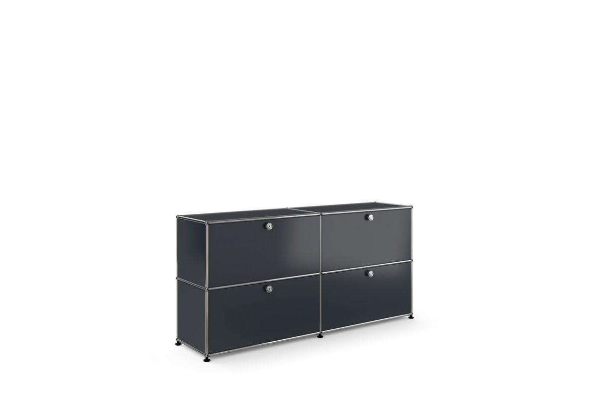 usm usm haller cr dence 4 modules avec portes round office b rom bel genf. Black Bedroom Furniture Sets. Home Design Ideas