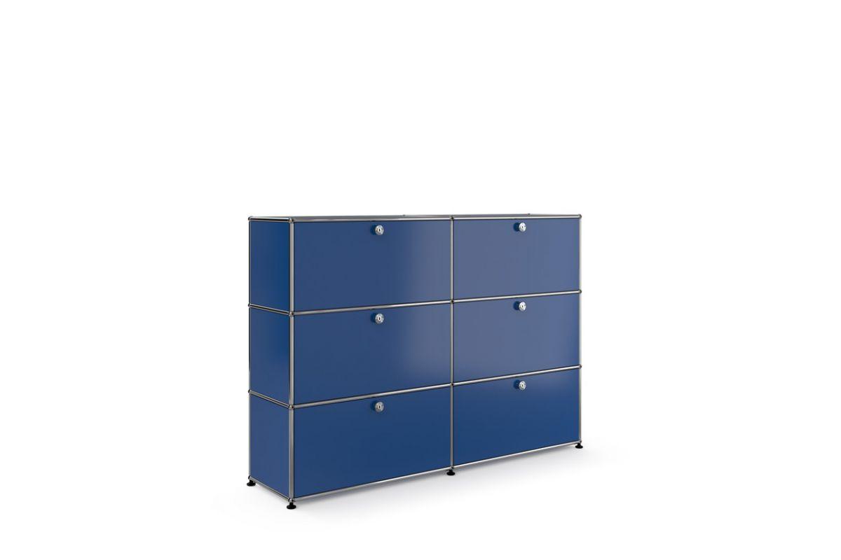 Usm usm haller meuble 2 l ments 6 modules round office for Meuble usm occasion