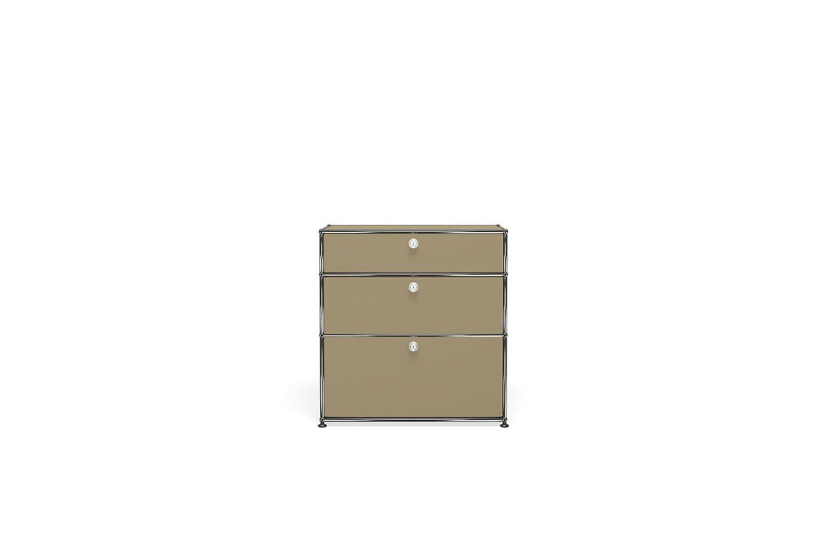 Usm usm haller meuble commode 75cm round office for Meuble usm occasion