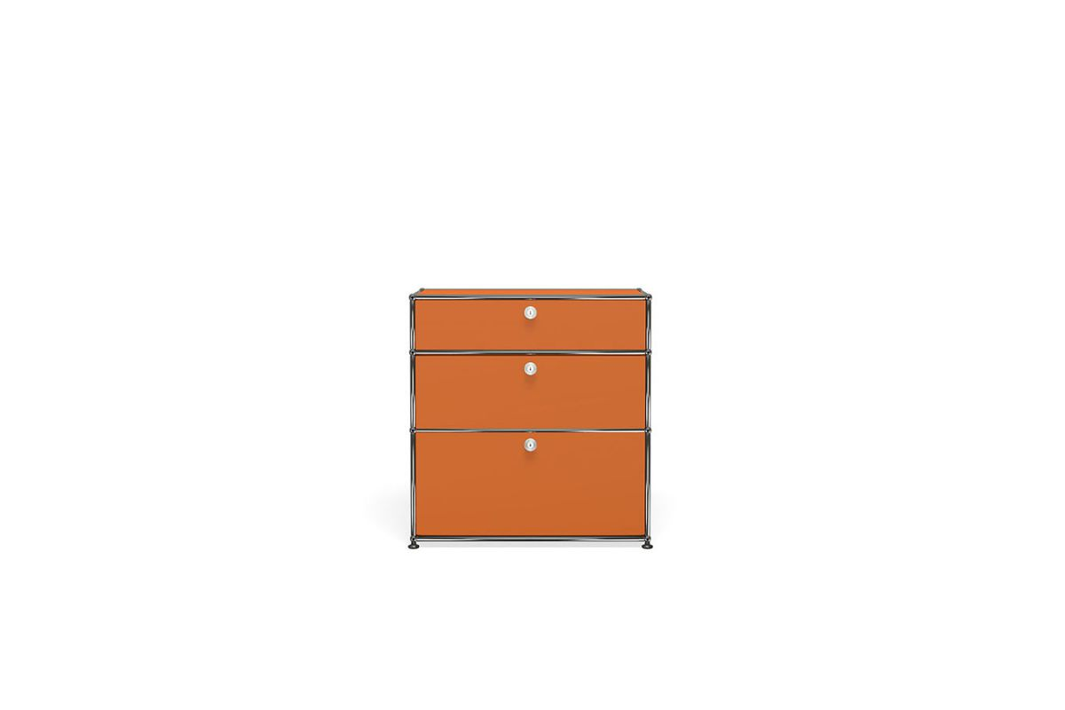 Usm usm haller meuble commode 75cm round office for Meuble bureau usm