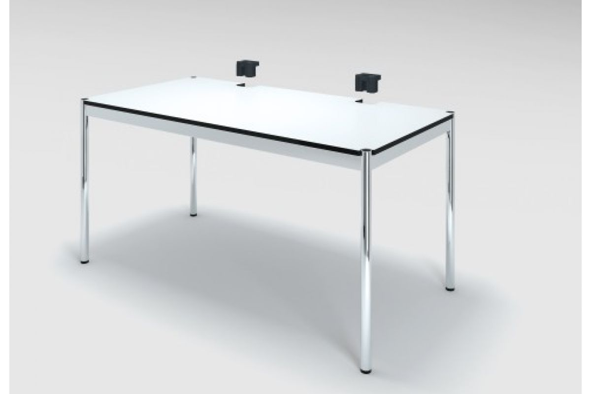 Usm usm haller plus table rectangulaire round office for Hauteur standard table