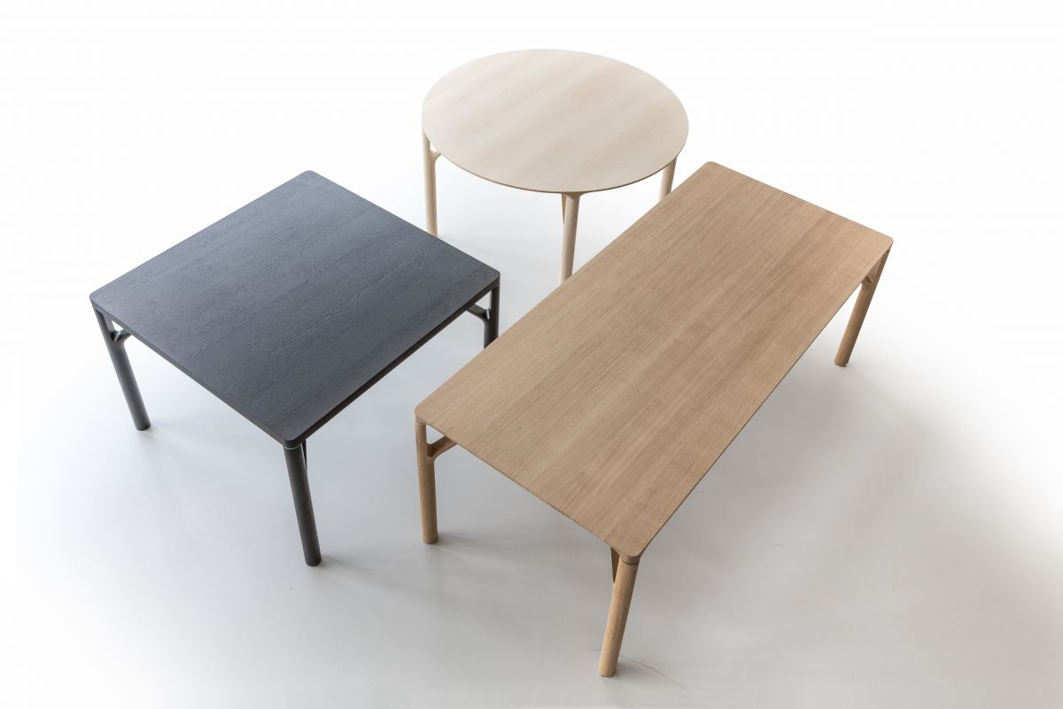 Zoom by mobimex my table bois massif round office for Hauteur standard table